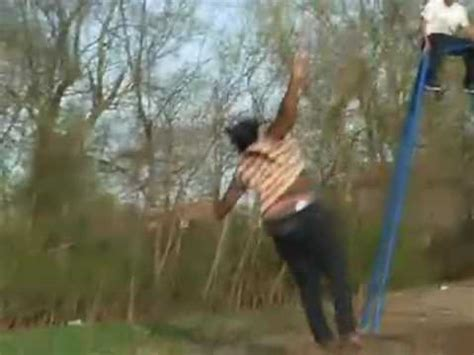 woman falls off swing ride woman flies and loses hair youtube