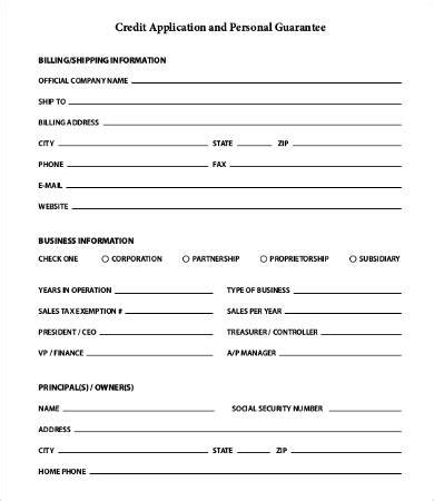 credit application forms for business templates free business credit application form 11 free word pdf