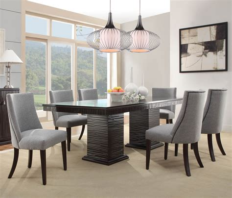 Homelegance Dining Room Furniture Homelegance Chicago 7 Pedestal Dining Room Set In Espresso Beyond Stores