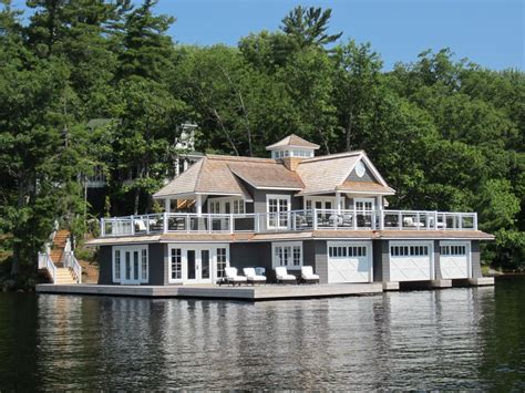 living on a boat in ontario beautiful boathouse in muskoka lakes ontario canada