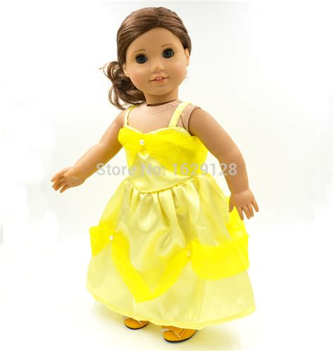 Where Can I Buy American Girl Doll Gift Cards - 2015 wholesale new yellow doll dress handmade doll clothes skirt 18 quot inch american