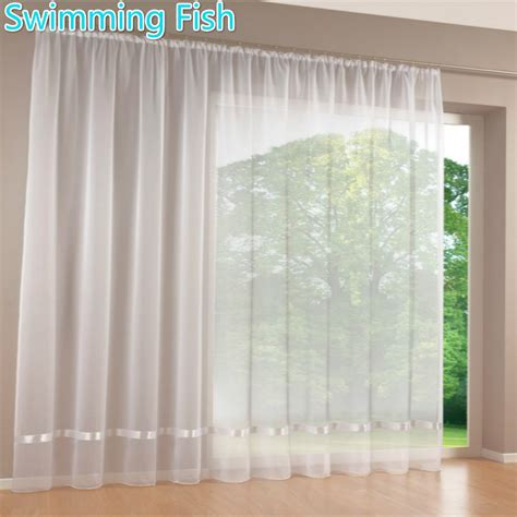window sheer curtains price by piece quality white all match window screens