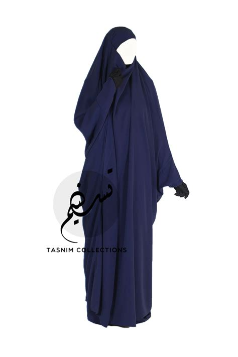 Abaya Hafsah one jilbab hafsah blue tasnimcollections