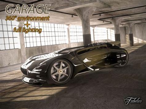 Garage Render Garage Rendering Environment 3d Model Max Cgtrader