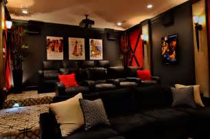 Media Room Design Transitional Interior Design Wills Transitional Home