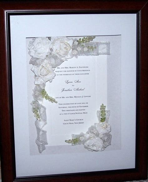 Wedding Invitation Keepsake Shadow Box 15 best wedding invitations framed keepsake images on