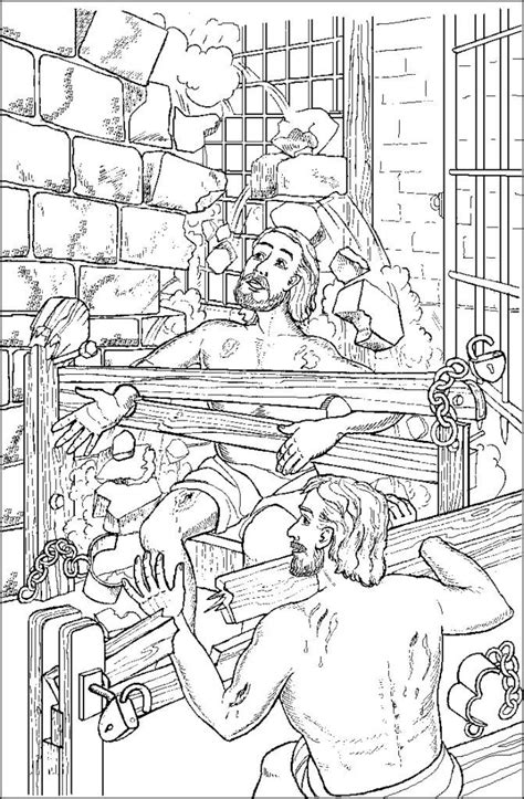 paul and silas in jail free coloring page coloring home
