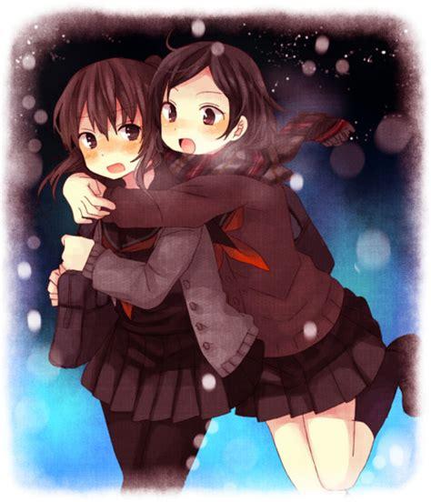 girl yuri anime love couples anime best friends couple girls love image 163034