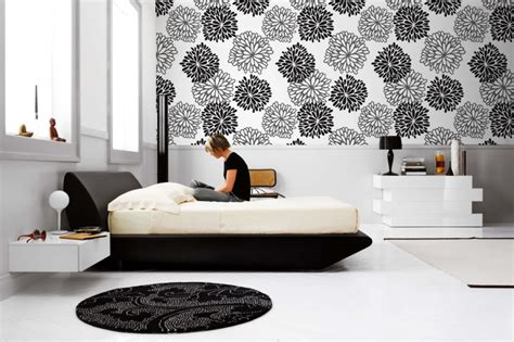 bedroom monochrome wall mural 16 interior design ideas