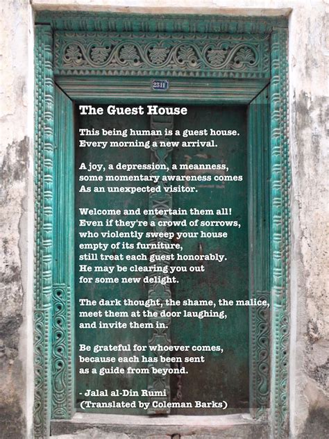 guest house rumi the guest house rumi poem house plan 2017