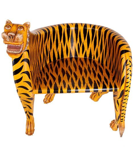 tiger chair solid wood tiger chair in yellow buy solid wood tiger