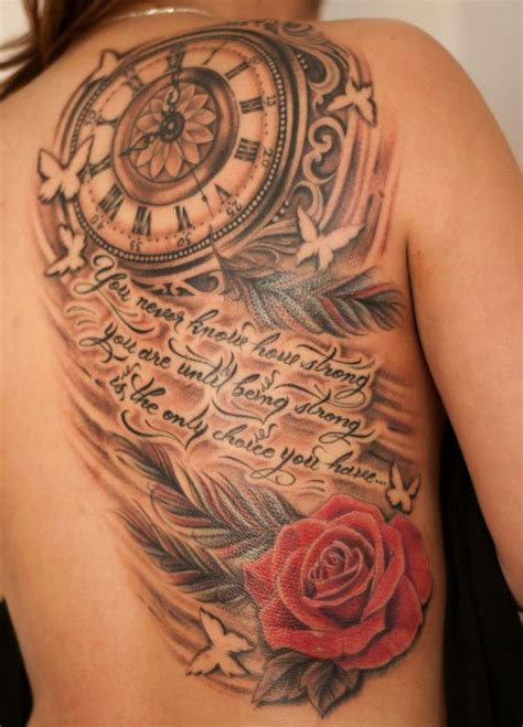 being strong tattoos 50 amazing pictures beautiful this and clock
