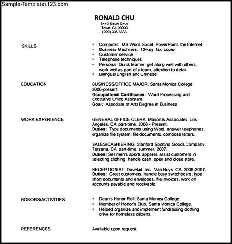 basic career objective basic resume objective sle templates sle templates