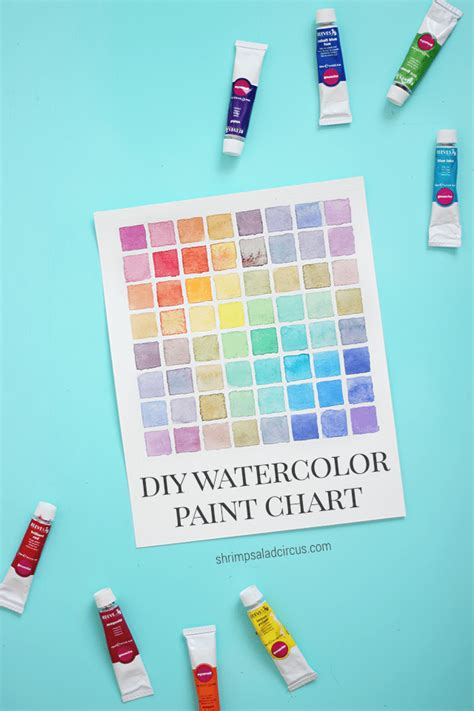 diy watercolor paint chart tutorial shrimp salad circus