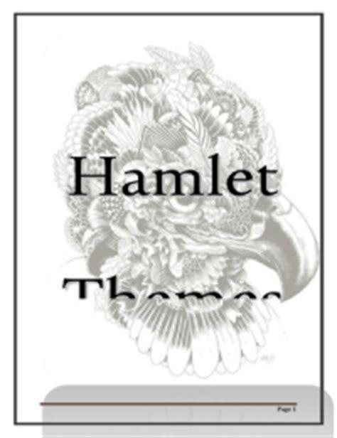 literary themes in hamlet hamlet stuvia