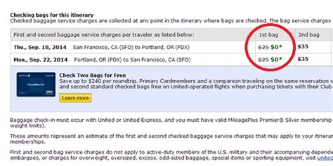 how much does united charge for bags what airlines don t tell you about that free bag huffpost
