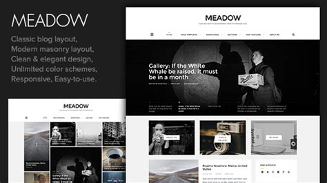 modern design blog meadow beautiful modern personal blog theme nulled
