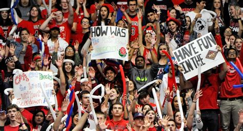 student section signs passion for hoops sustains arizona fervor arizona sonora