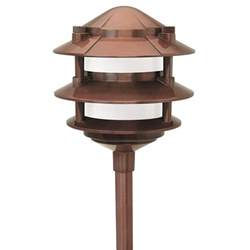 paradise low voltage 1 light 11 watt copper outdoor
