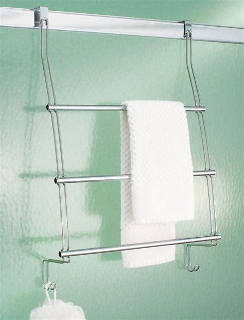The Door Towel Rack by Interdesign Chrome The Door Towel Rack In The