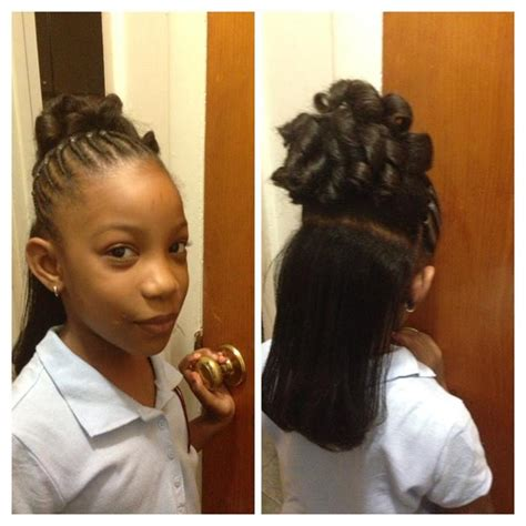 blqck hair styles poney tails and flat twist flat twist to pony tail and candy curls with flat ironed