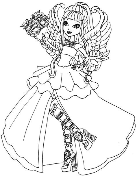 ever after monster high coloring pages ever after high girl coloring pages by elfkena on