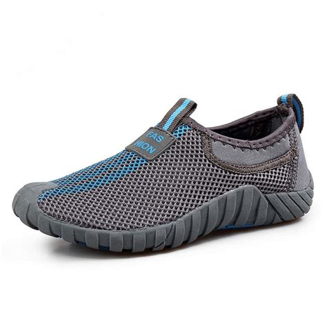 slip on athletic shoes mens new s slip on sneakers mesh breathable casual hiking