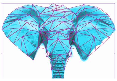 illustrator tutorial elephant design a cd cover in low polygonal grungy style in adobe