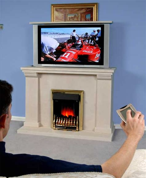 tv fireplaces hide your tv in style with a tv fireplace