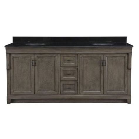 Black Distressed Bathroom Vanity by Naples 72 Quot Bathroom Vanity In Distressed Grey W Black