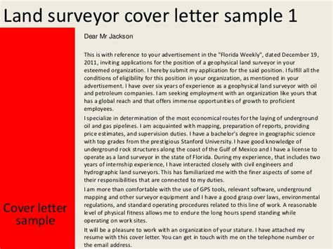 Surveying Engineer Cover Letter by Land Surveyor Cover Letter