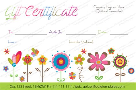 free customizable gift certificate template fake gift certificate