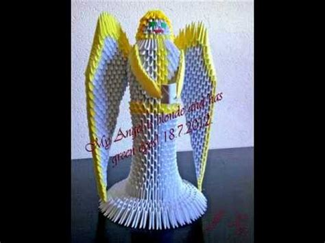 tutorial origami angel 3d origami angel tutorial youtube