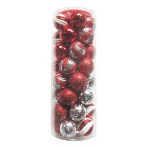 peppermint twist 40 count 57mm christmas tree ball