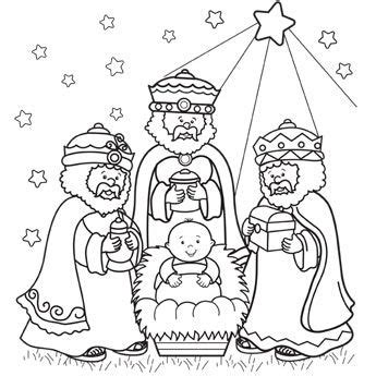 epiphany wise men coloring sheet coloring pages
