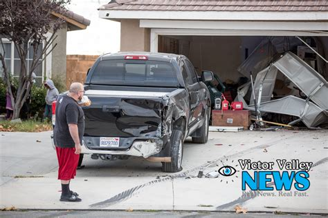 victorville truck stolen truck plows through victorville home victor
