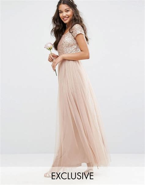 Mahya Dress bardot maxi dress with delicate sequin and