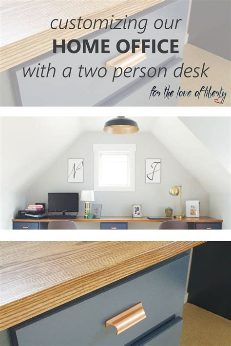 2 desk home office 25 best two person desk ideas on 2 person