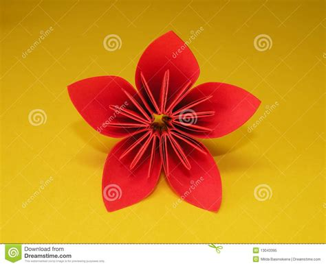 2d Origami Flower - origami flower royalty free stock photo image 13043395