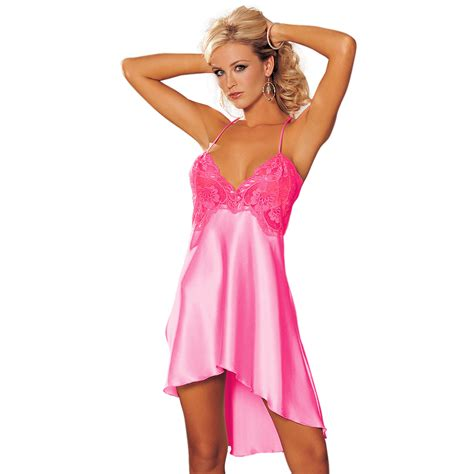 Dress Sleepwear Satin sleepwear robe sling dress satin