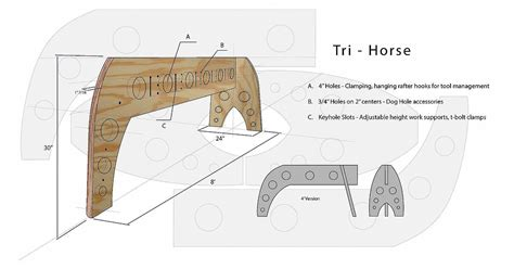 issue 238 oct nov 2013 fine homebuilding my 3 legged sawhorse design is featured in fine