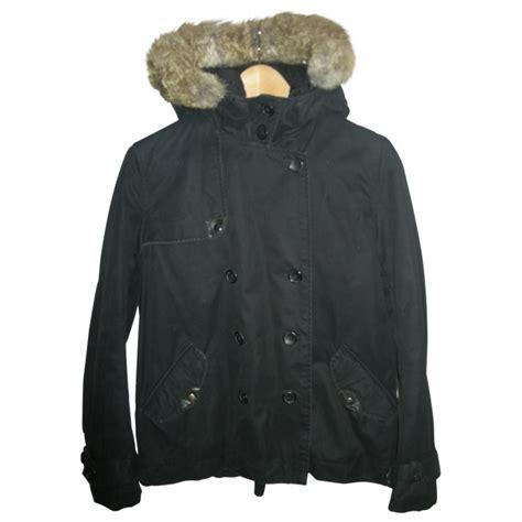 manteaux comptoir des cotonniers manteaux polyester noir