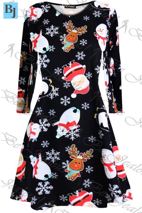 Pinguin Dress2 womens swing dress childrens santa gift