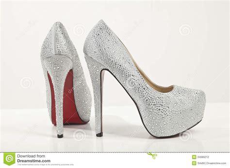 Terlaris High Heels Glitar Silver silver high heels shoes on white background 6x1zu9
