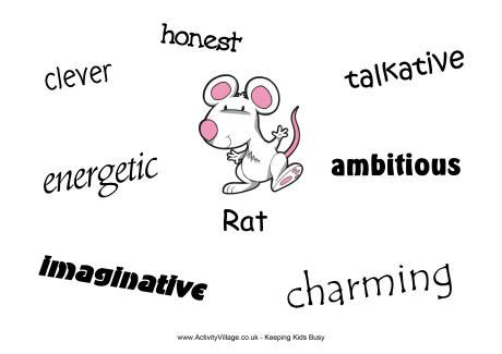 new year meaning of rat rat characteristics poster