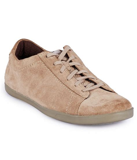 clarks beige casual shoes