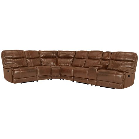 Large Brown Leather Sectional by City Furniture Liam Medium Brown Leather Vinyl Large