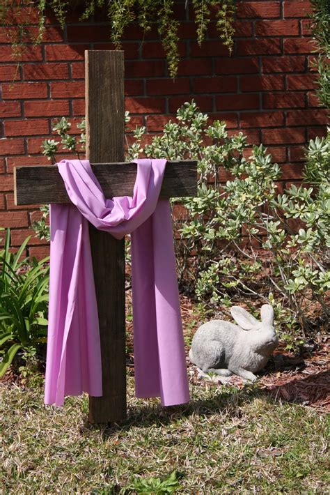 easter backyard decorations coastal charm diy easter cross