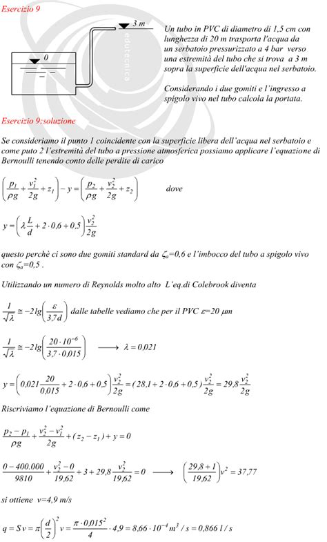 calcolo portata calcolo della portata di un tubo 28 images calcolo