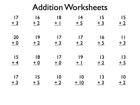 download pdf free printable addition worksheets grade 1